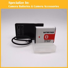 Professional 1PCS NP-BG1 FG1Battery charger set for Sony Cameras & Camcorders DSC W80 W90 WX1 WX10 HDR-GW77 GW77