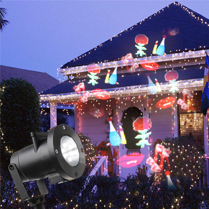 IP65 Patterns Christmas Laser Snowflake Projector Outdoor LED Waterproof Disco Lights Home Garden Star Light Indoor Decoration