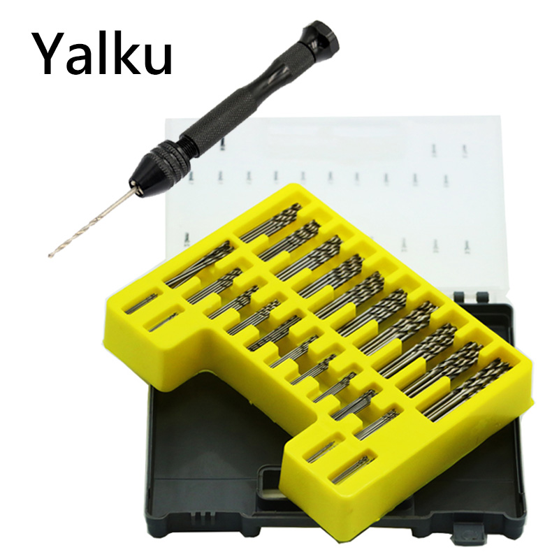 цена на Yalku HSS Micro Bit Twist Drill Bits Set Kit Mini Small Precision Hss Power Drill Bit Craft Hole Maker Metal DrillingTool Kit