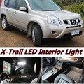 6 pcs X frete grátis Livre de Erros LED Interior Luz Kit Pacote para nissan X-Trail T31 acessórios 2007-2013