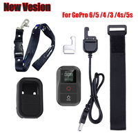 2018 For GoRro Waterproof Remote Control+Protective Case+Chest Strap Lanyard For Gopro Hero 6 5 4 3+3 7 4,5 Session Accessories
