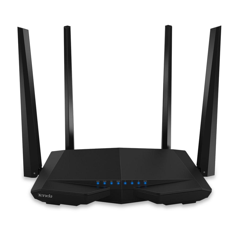 Prix pour D'origine Tenda AC6 1200 Mbps Sans Fil Routeur Anglais Firmware Wifi Répéteur Dual Band 2.4 GHz 5.0 GHz 5dBi Antennes Externes