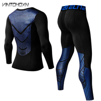 Men Pro Quick Dry Compression Long Johns Fitness Winter Gymming Male Spring Autumn Sporting Runs Workout