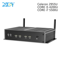 6* Serial port Core i7 5500U i5 4200U XCY Mini PC Windows 10 dual LAN HDMI port HTPC mini computer celeron 2955U usb pc