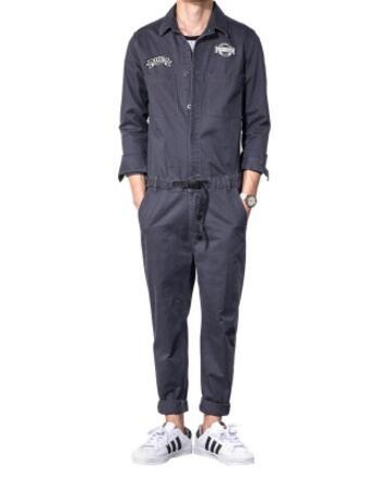 2017 Neue Männer Der Kleidung Vintage Waschen Werkzeug Overall Jacke Set Männlichen Persönlichkeit Micro Kapitel Casual Oberbekleidung Kostüme S-xl