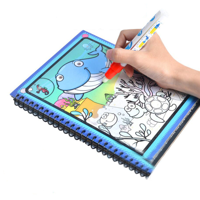 Magic Water Drawing Toys Set Book with Pen / Intimate Coloring Book ...