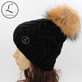 GZHILOVINGL 2016 New Winter Beanie For Women Solid Color Wool Knitted Beanies With Fur Ball Beanie Skullies Gorros Pom Pom Hats