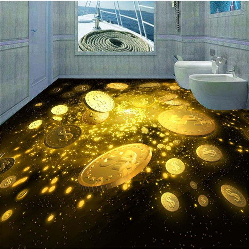 Beibehang Fantastic Beautiful Gold Coin Painting Tiles