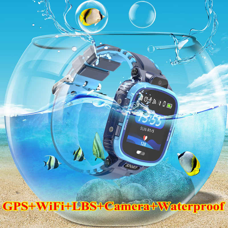 smart watch kids GPS WIFI IP67 waterproof for Kids Tracker Smart GPS Children SOS Monitoring Positioning Watch 500mAh Battery