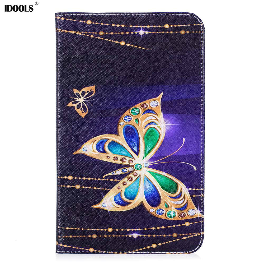 IDOOLS Case For Samsung Galaxy Tab A 8.0 T380 T385 2017 Anti-Dust PU Leathe Style Soft Silicon Hybrid Protective Tablet Cover 8' silicon hybrid plasmonic waveguides