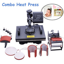 Advanced 8 In 1 Combo Heat Transfer Machine Sublimation/ Heat Press Machine for Plate/Mug/Cap/T-Shirt /Phone Case