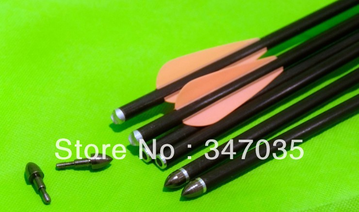 Free shipping ELONG 12 pcs lot 8843 fiberglass arrow 17 for Crossbow Bolt archery bow hunting