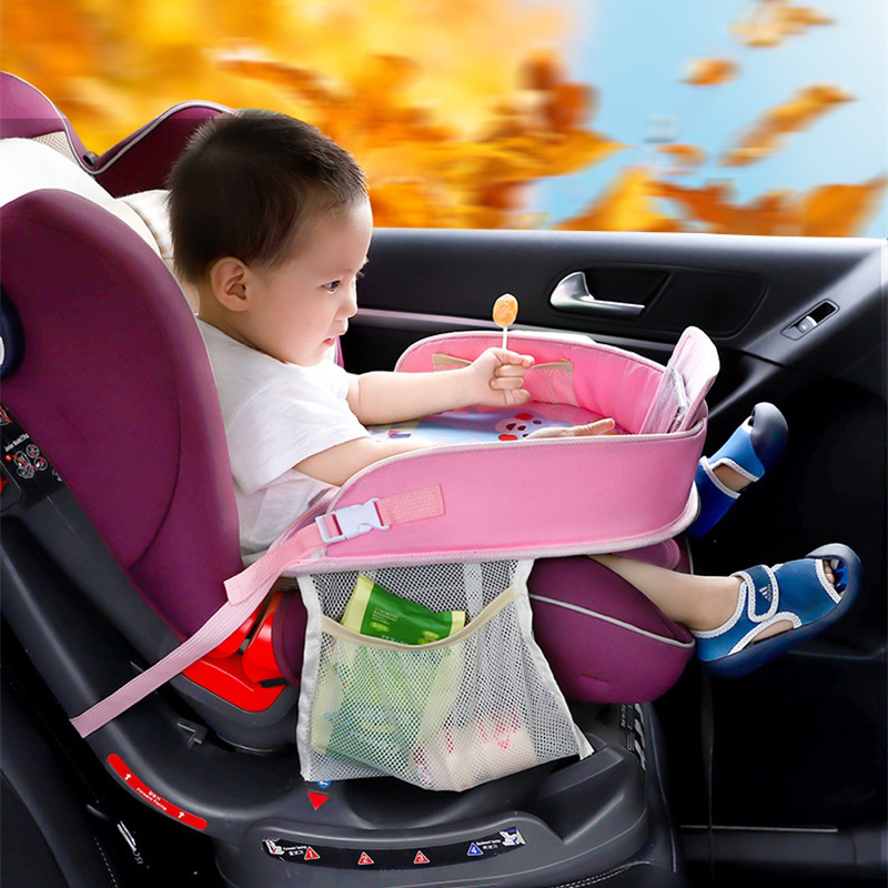 Baby Children Table For Car Baby Stroller Holder Food Desk Waterproof New Child Table Car Seat Tray Storage Kids Toy Table