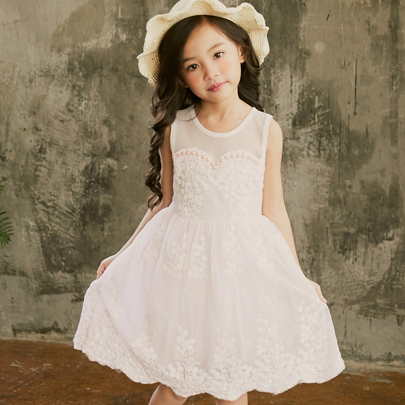 Summer Baby Party Dress for Girls Lace Flower Wedding Kids Tutu Dresses Children Princess Dresses 3 12Yrs Sundress Kids CC997