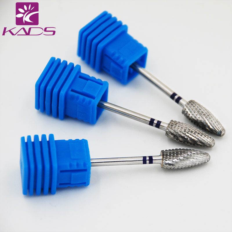 KADS Bullet Alloy Nail Art Drill Bit for Manicure Professional Nail Drill Polish Tools Remove UV