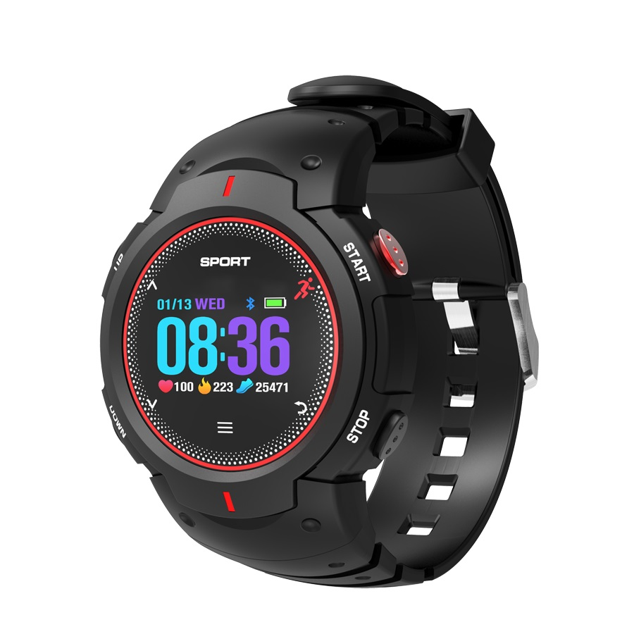 F13 1inch TFT Color Screen Bluetooth Remote Camera Sleep Monitor Swimming Push Message Fitness Tracker Smart Watch image