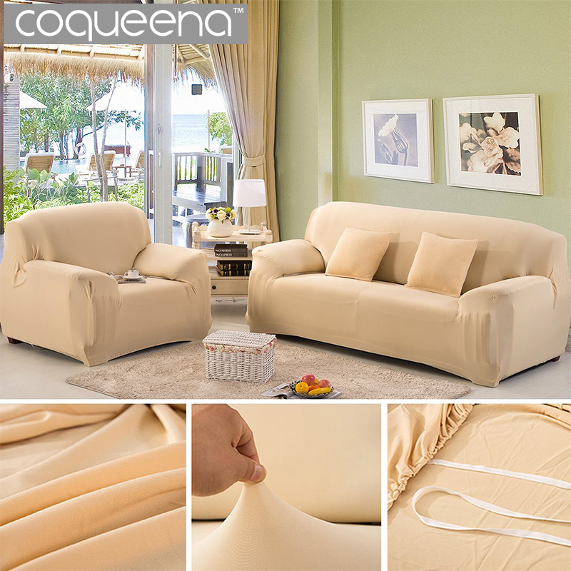 Modern Solid Universal Elastic Stretch Sofa Cover for Living Room Sectional Couch Covers Recliner Chair Furniture Slipcovers