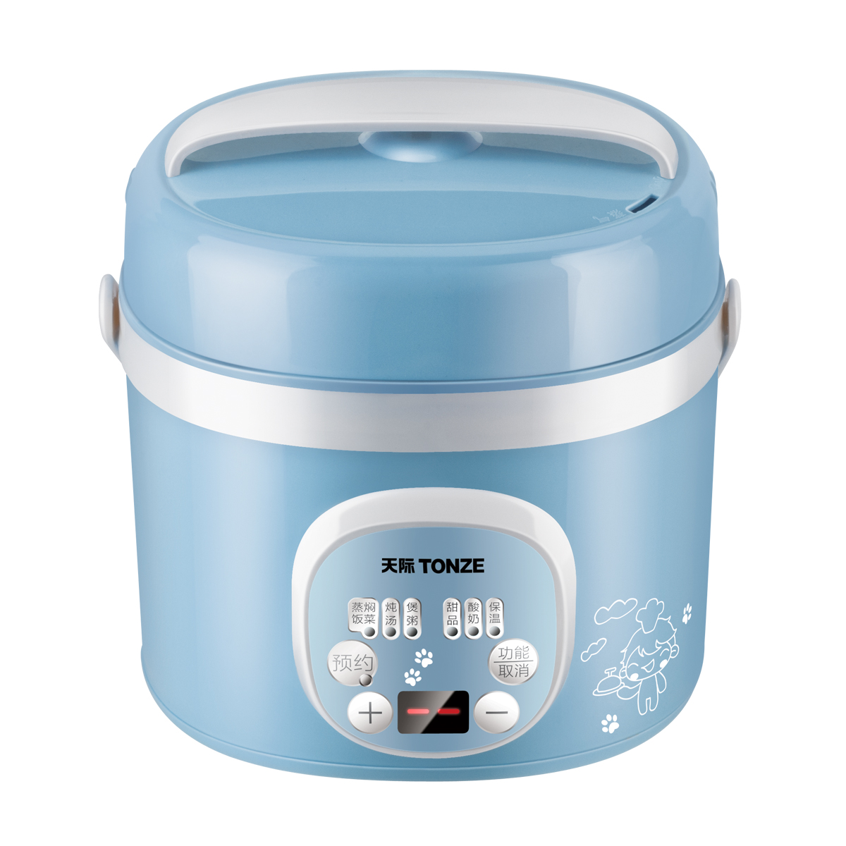 Tonze Electric Thermal Lunch Box Vacuum Preservation Mini Electric Rice Cooker Stainless Steel Double Layer Food Container bear portable mini electric lunch box stainless steel preservation for home and office mini rice cooker box container