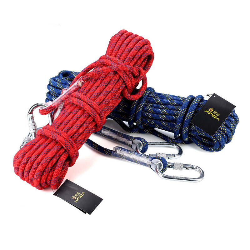 Rock climbing ropes 12 mm climbing rope mountaineering safety rope prompt drop outdoor camping equipment 10 meters xinda 10mm static rope outdoor climbing rope paracord speed descending climbing safety rope camping equipment 10m 40m rope