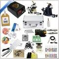 Beginner Complete Tattoo Machine Kit  Ink Sets Digital LCD Power Supply Needles Mini Tattoo Kit