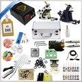 Iniciante Completa Da Máquina de Tatuagem Kit Conjuntos de Tinta Agulhas de Fornecimento de Energia LCD Digital Mini Tattoo Kit