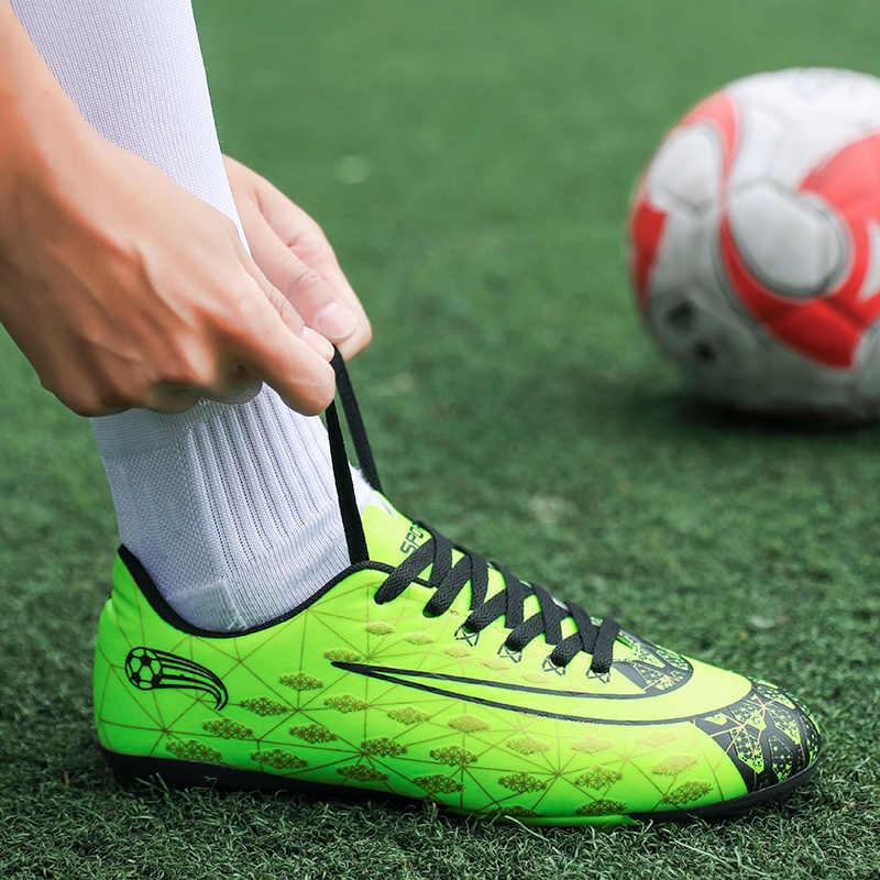on sale 7623d 0017b Men Soccer Shoes Sport Ronaldo Breathable Mesh Spikes Lightweight Kids Boys  Superfly VI Elite CR7 AG FG TF SG Football Sneakers