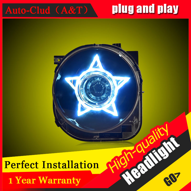 Auto Clud Car Styling For Jeep Renegade headlights 2016 For Renegade head lamp led DRL front Bi-Xenon Lens Double Beam HID KIT