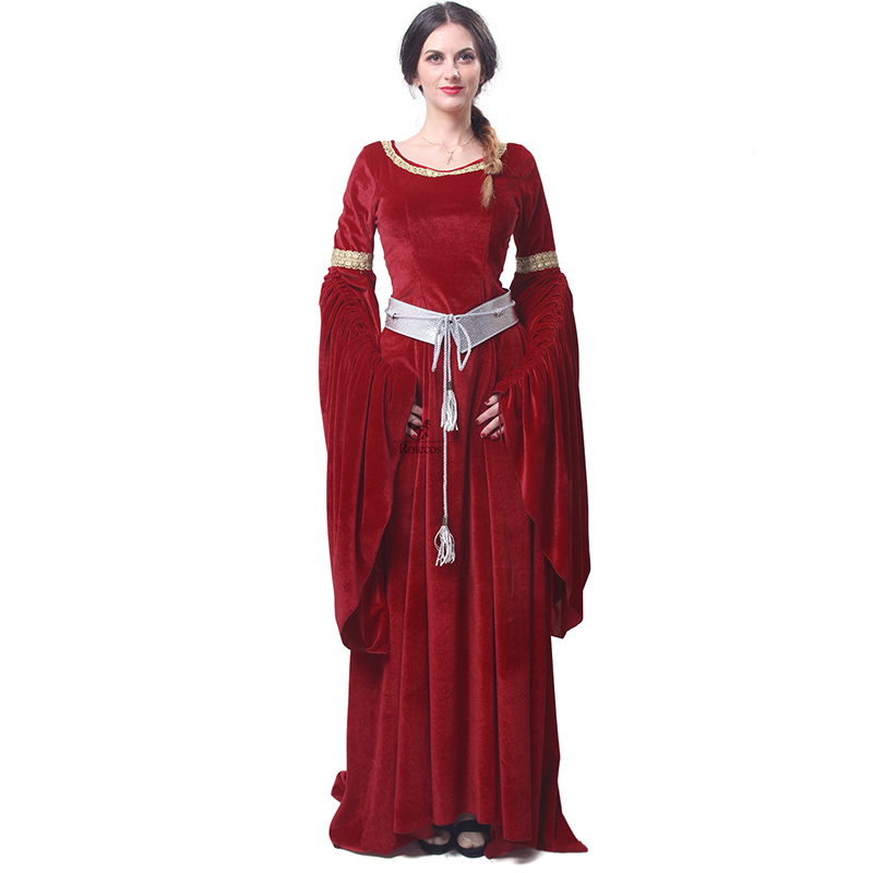 ROLECOS Brand Women Red Blue Medieval Renaissance Gaun Malam Victoria - Kostum karnival - Foto 2