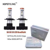 6000LM*2 with Genuine For P.hilips LED Headlight Fog light CAR Led light H4 led H13 9004 9007 Automobile Headlamp Car Lighting