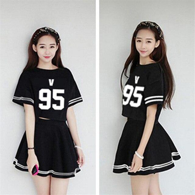 Kpop bts Bangtan Meninos verão Roupas Femininas vestido de ...
