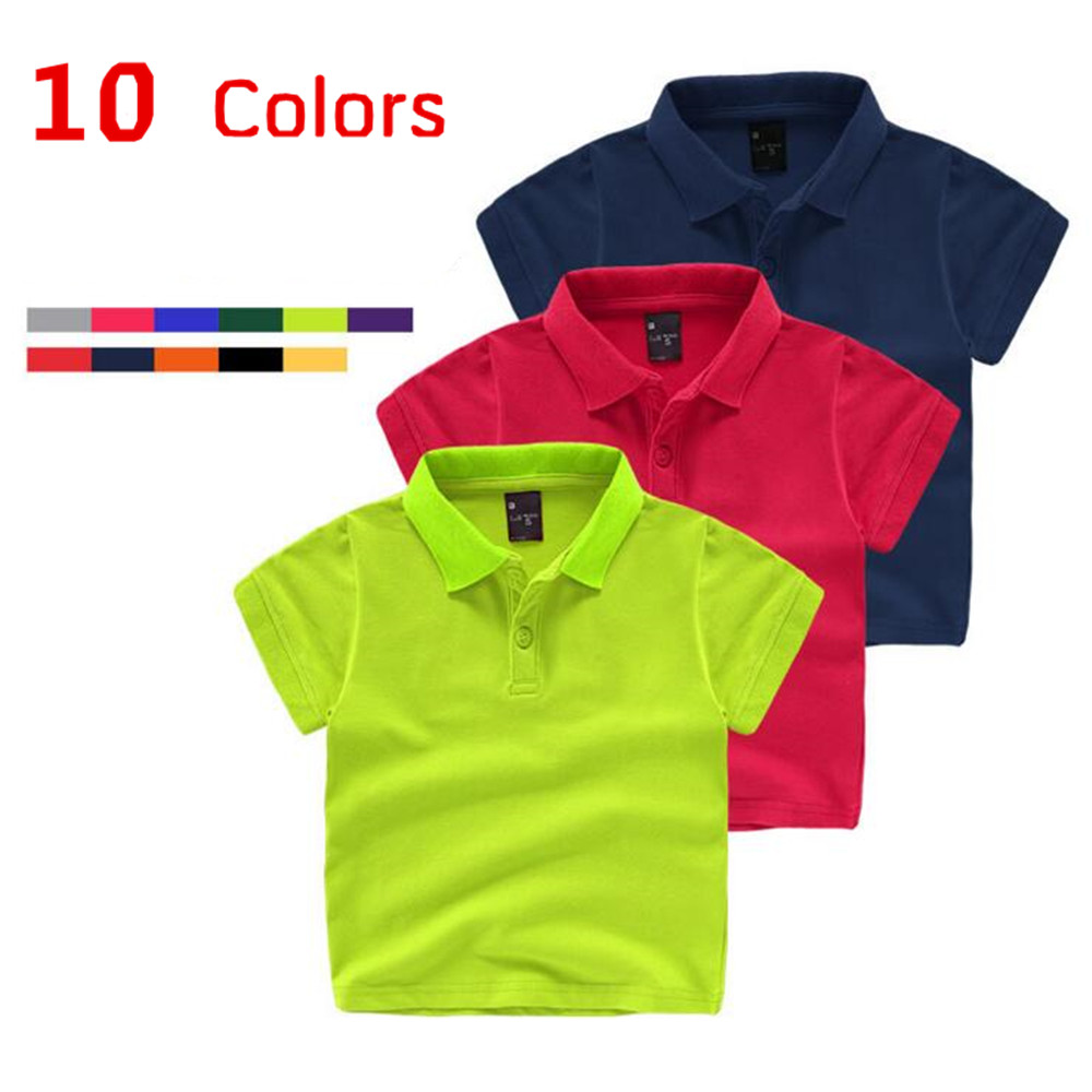 Summer Kids Boys Polo Shirts Boys Shirt Short Sleeve Solid Lapel Kids Girls Polo Shirts Casual Kids Summer Shirt Hot Sale stylish lapel hidden solid color long sleeve polyester shirt for men