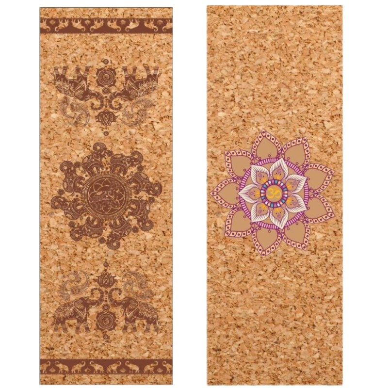 4mm Cork Natural Rubber Yoga Mat Eco-Friendly Non Slip 183cm*68 Cm Pilates Mat Yoga Gym Fitness Exercise Mats Mat Customizable yoga mat natural rubber eco friendly non slip for bikram best yoga mat for hot yoga fitness easy to fold gym mat rubber