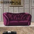 Новый дизайн Роскошная Марокканская форма губ темно-фиолетовая китайская мебель классическая ткань круглый Диванный Комплект 7 местный в т...