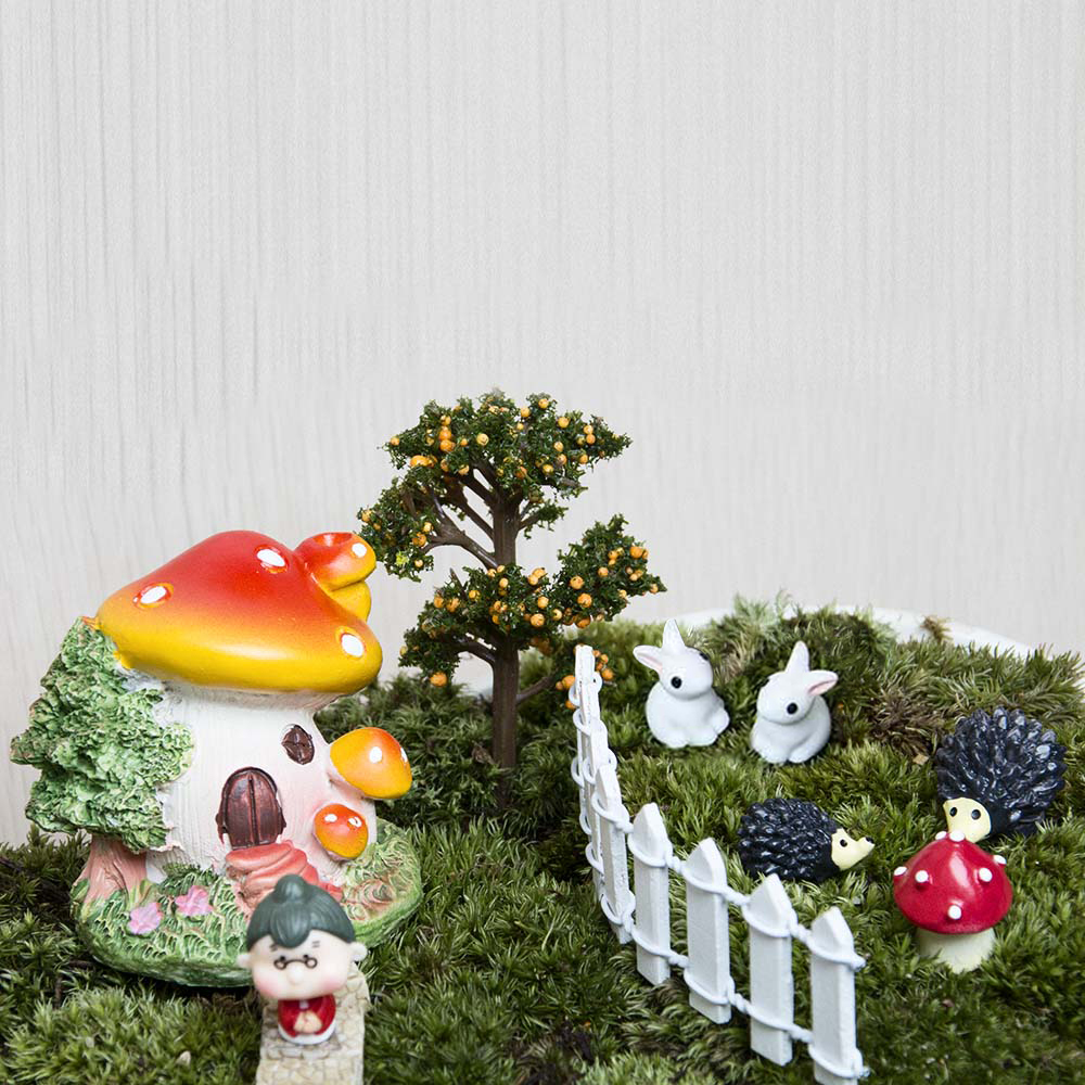 18pcs / set Μικρό τοπίο σπίτι Bonsai DIY κούκλα - Διακόσμηση σπιτιού - Φωτογραφία 6