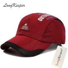 LongKeeper Spring Summer Snapback Caps for Men Women Letters Sun Cap Casual Hats Quick Dry Beisbol