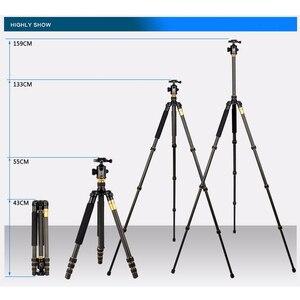 Image 3 - QZSD Beike Q999C Carbon Fiber Professional Tripod Monopod Ballhead Changeabel For DSLR Camera 1400g Netweight 159cm max height