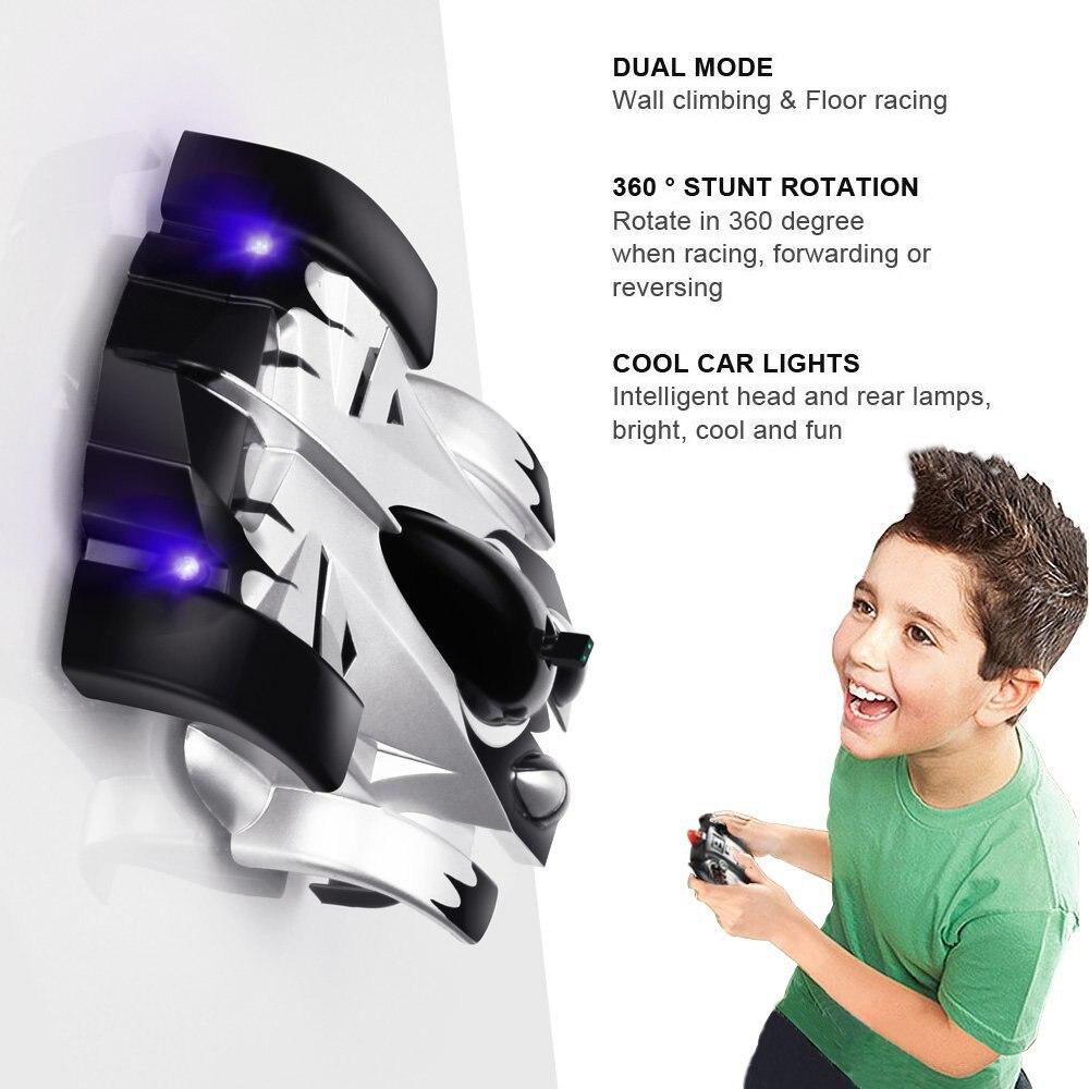 Mini Gravité Télécommande Voiture RC Mur D'escalade De Voiture De Course Sport avec des Lumières LED Tournant Cascadeur Jouets Pour enfants