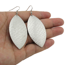 Newest Fashion Accessories Grind Arenaceous Silver Plated 2.9″X1.2″ Dangle Earring Gift For Women Lady Wholesale ZF21