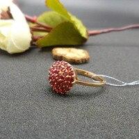 Lanzyo 18 К розовое золото натуральный рубин кольца женский ювелирные изделия подарок Ювелирные украшения тонкой кольцо подарок для Для женщин