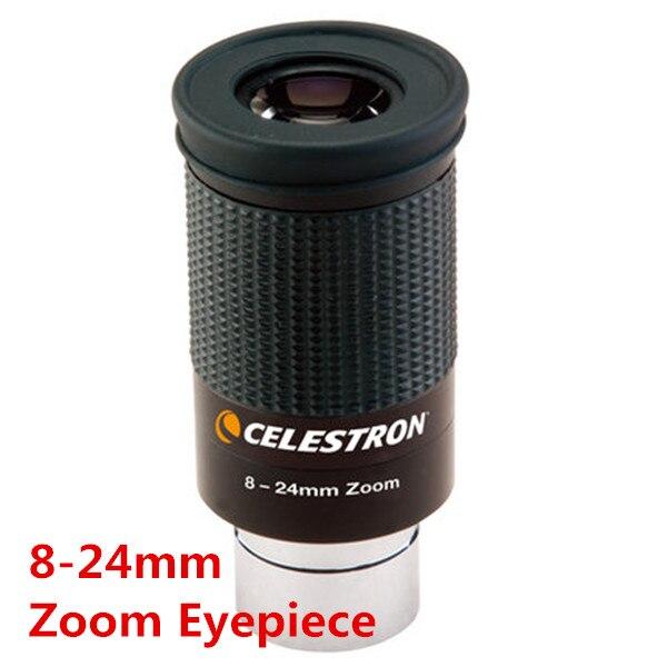 Oculaire Original Celestron 8-24mm 1.25 ''31. 7mm Zoom HD pour télescope astronomique Skywatcher entièrement multienduit en ventes