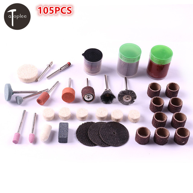 US USA Stock Warehouse 1 Set Rotary Dremel DIY Tool Polishing Grinding Cutter Tool Accessories With Wooden Case