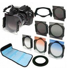 Adaptador de anillo 49 52 55 58 62 67 72 77 82mm + soporte + filtro ND2 ND4 ND8 + filtro graduado gris azul naranja para cámara Cokin P