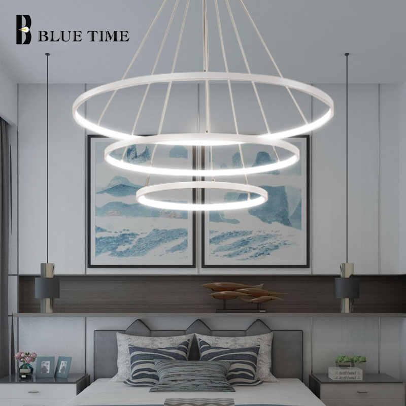 Золотой и черный и белый круглый современный светодиодный подвесной светильник для дома, гостиной, столовой, светильники, СВЕТОДИОДНЫЙ Потолочный подвесной висячий светильник, лампы