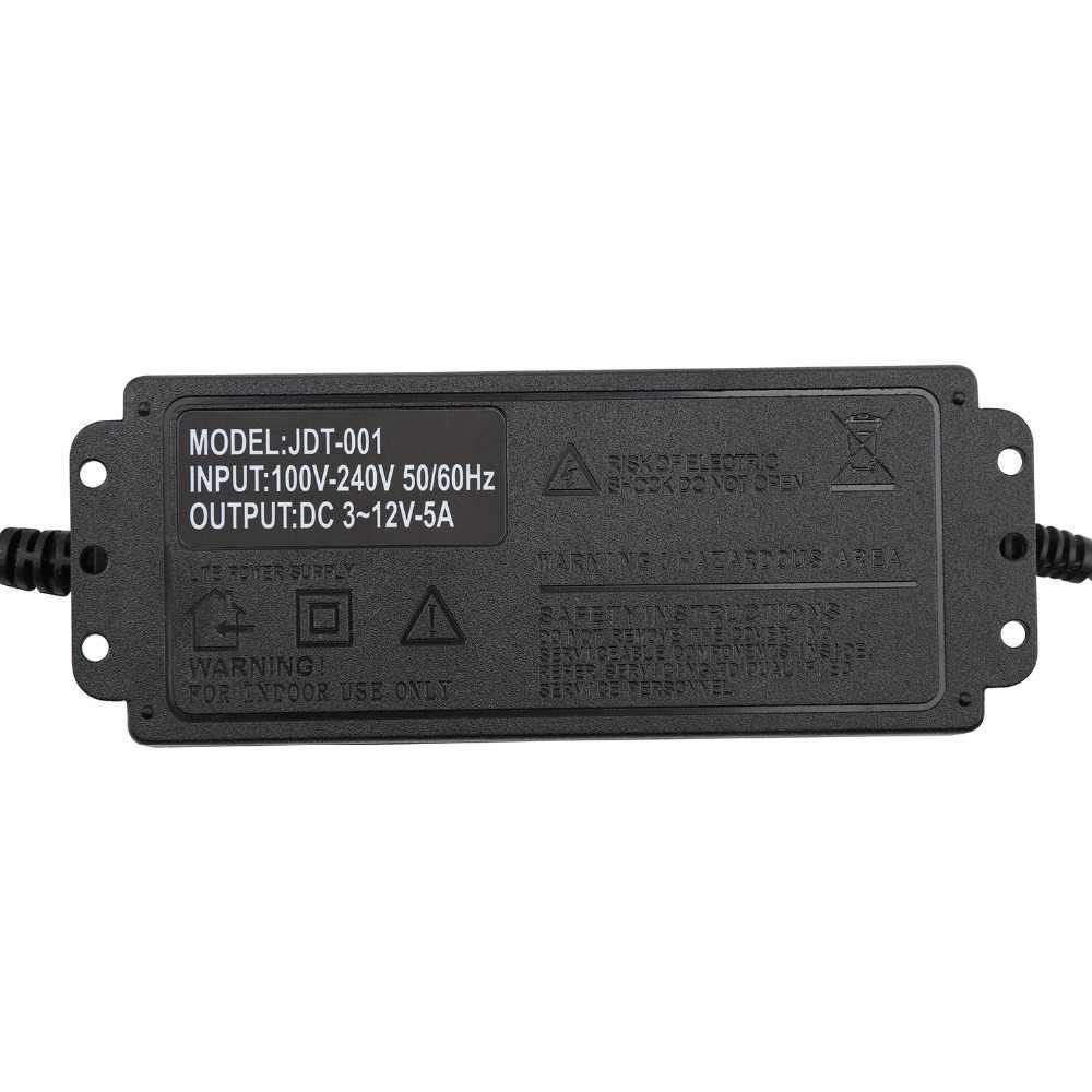 3 ~ 12 V 5A Макс Регулируемый универсальный адаптер переменного тока 110 220 V до 3 V 4,5 V 5 V 7,5 V 9 V 12 V AC DC адаптер 5 9 12 V адаптер питания