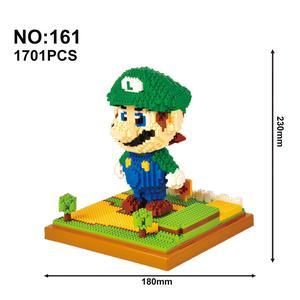 Image 5 - نموذج اللبنات الكرتون شخصيات كرتونية تجميعها لبنة صغيرة ألعاب تعليمية للأطفال