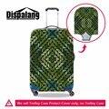 Dispalang Personalizado Listrado Impresso Bagagem Capa Protetora Com Zíper Floral Spandex Tampa Mala de Viagem Crânio Acessórios