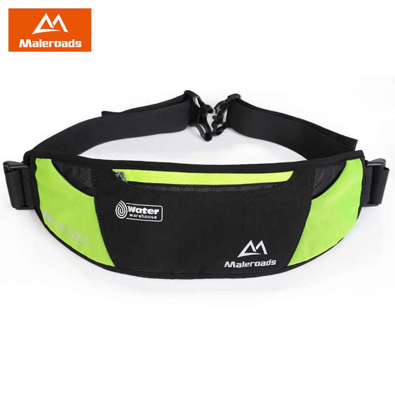 acc5df7d22f2 Maleroads Запуск сумка Для мужчин Для женщин беговая дорожка Бег поясная  сумка Gym Bag Фитнес поясная