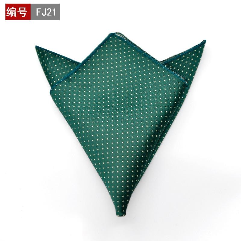 25 X 25cm Fashion Men Pocket Square Party Handkerchief Black With