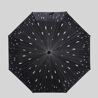 Korea Meteor Shower Personalized Folding Umbrella Folded Umbrella Rain Or Shine Dual Use Umbrellas Outdoor Umbrella