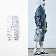 summer casual trousers High Street leggings big yards RO thread material Qiuku men and women
